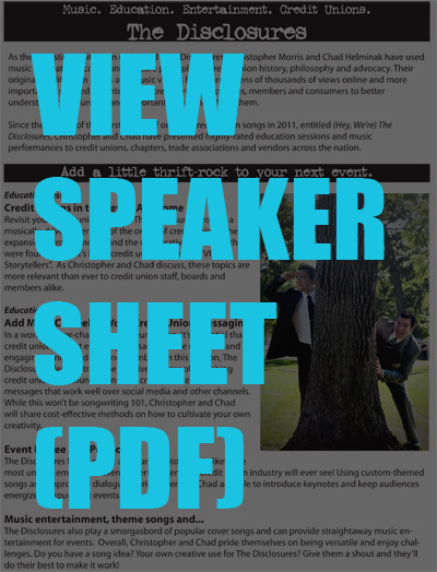 Click to View Speaker Sheet